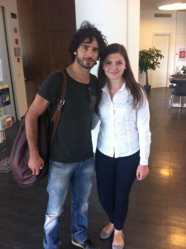Marco Bocci in vacanza a Hotel Callistos Tricase vicino Santa Maria di Leuca