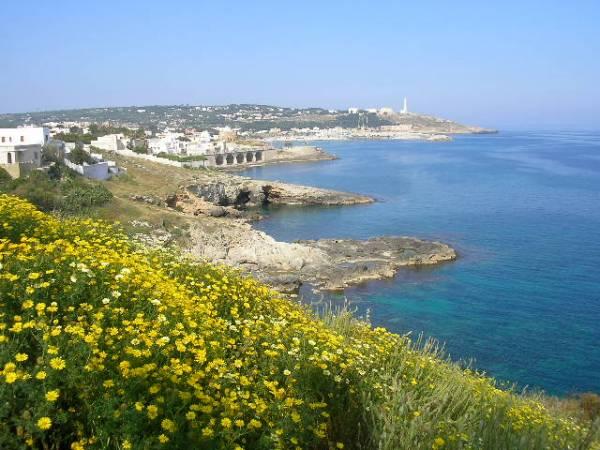 vista della costa di Santa Maria di Leuca, in provincia di Lecce