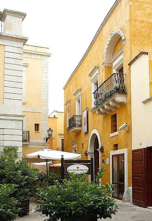 Esterno ingresso Palazzo Baldi Galatina, Lecce
