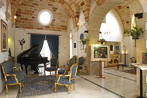 Particolare Hall Palazzo Baldi Galatina, Lecce