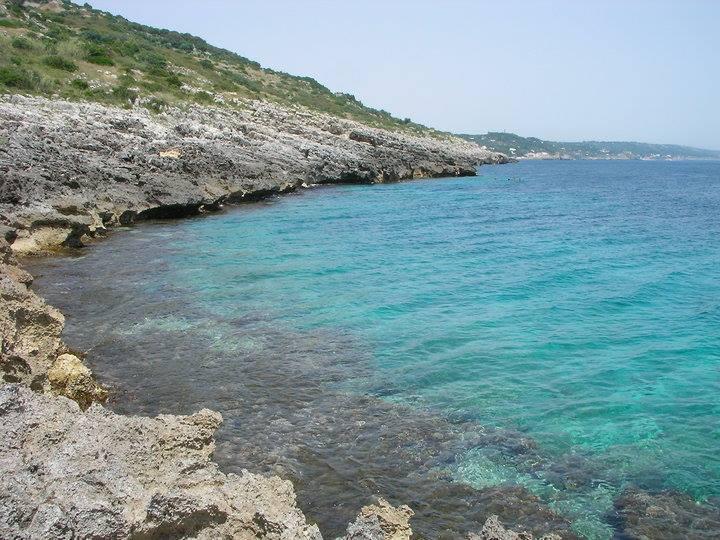Costa di scogliera a marina di Corsano (Puglia)
