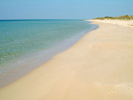 Spiaggia di sabbia fine Pescoluse Lecce Salento