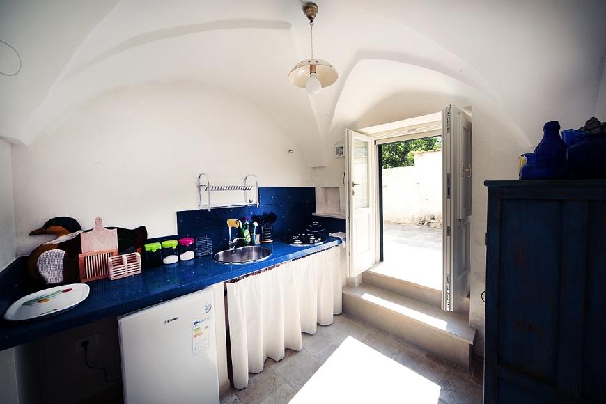 suite del riccio: cucina e ingresso indipendenti