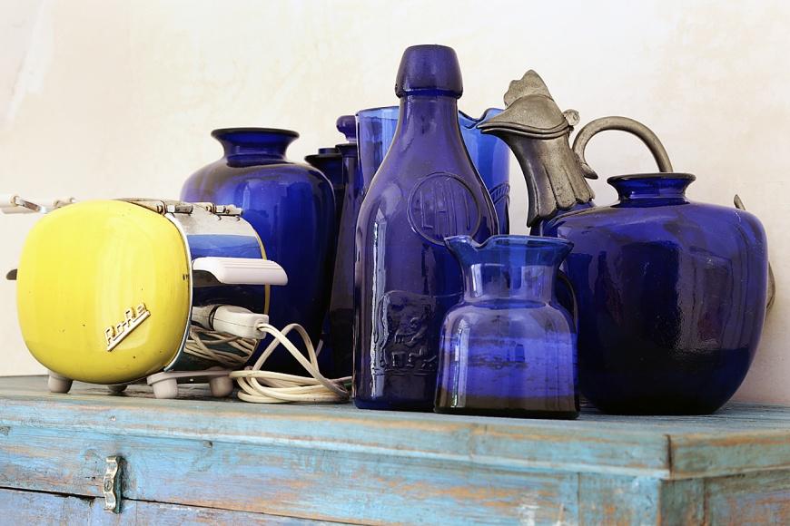 dettaglio cucinetta blu suite del riccio