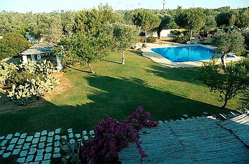 Vista panoramica giardino masseria Mosca Gallipoli, Lecce