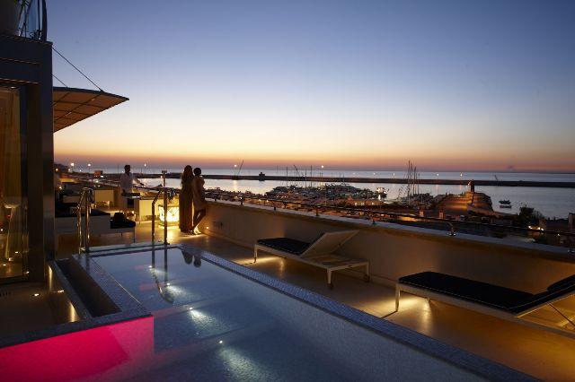 Vista mare serale Hotel Palazzo del Corso Gallipoli