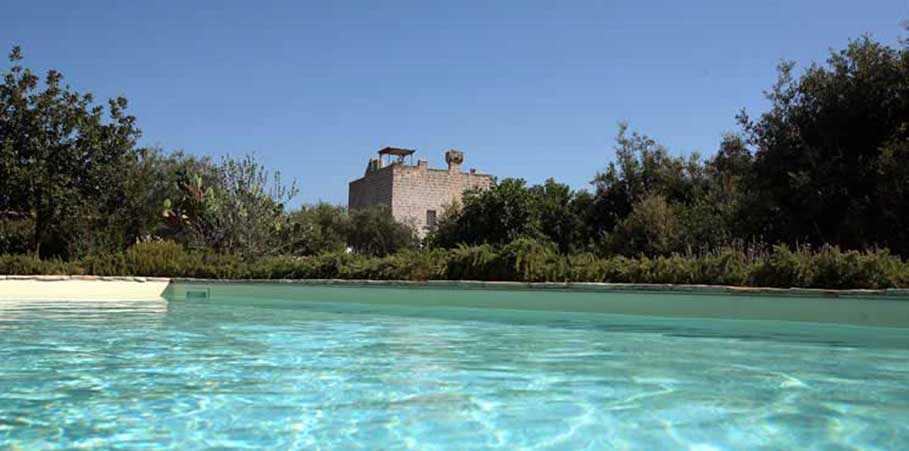 Vista piscina Masseria Don Cirillo