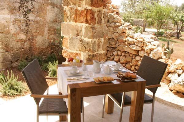 Colazione all'esterno Masseria Don Cirillo Ugento, Lecce