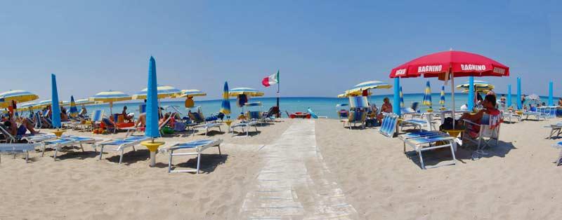 Spiaggia Hotel Villaggio dei Pini Gallipoli, Lecce