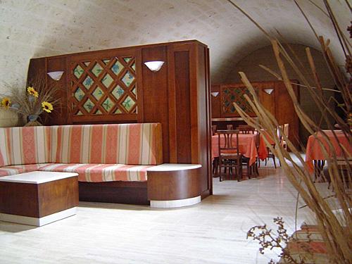 sala colazione Masseria Fabrizio Alimini Otranto, Lecce