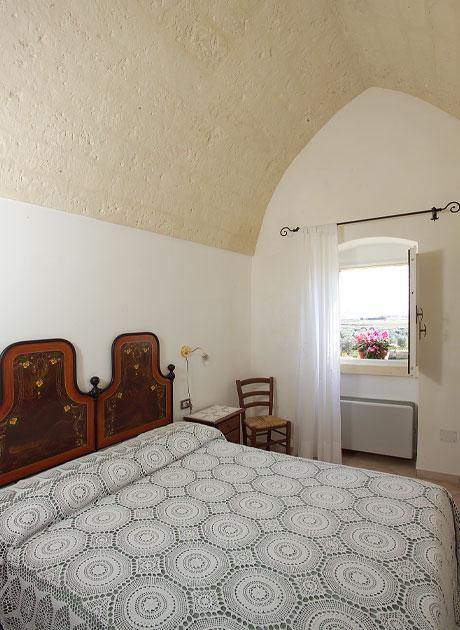 Camera matrimoniale masseria Panareo, Otranto, Lecce