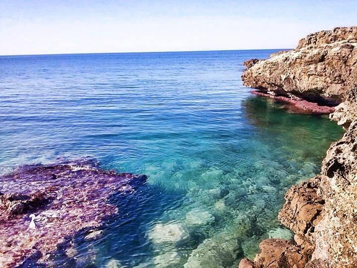 splendido mare della costa di Ugento