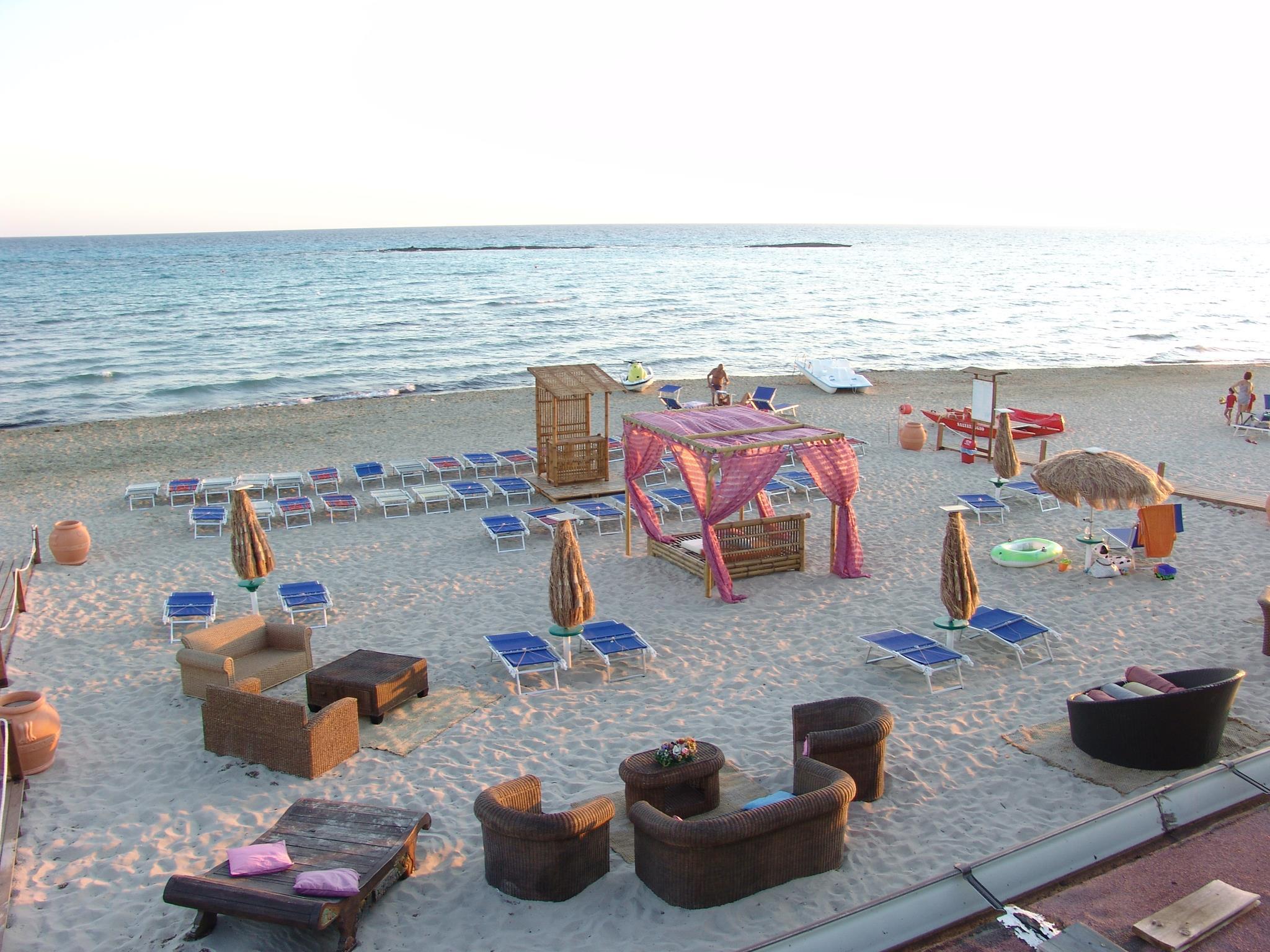 spiaggia del residence Li Tumi a Lido Marini