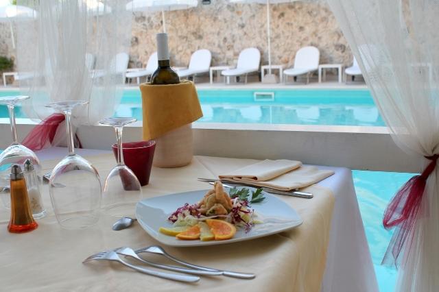 Particolare ristorante Hotel degli Haethey Otranto
