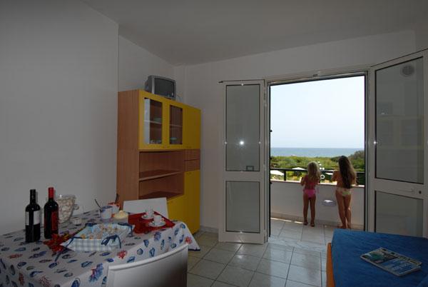 Soggiorno Trilocale Residence Puntacassano San Foca, Lecce