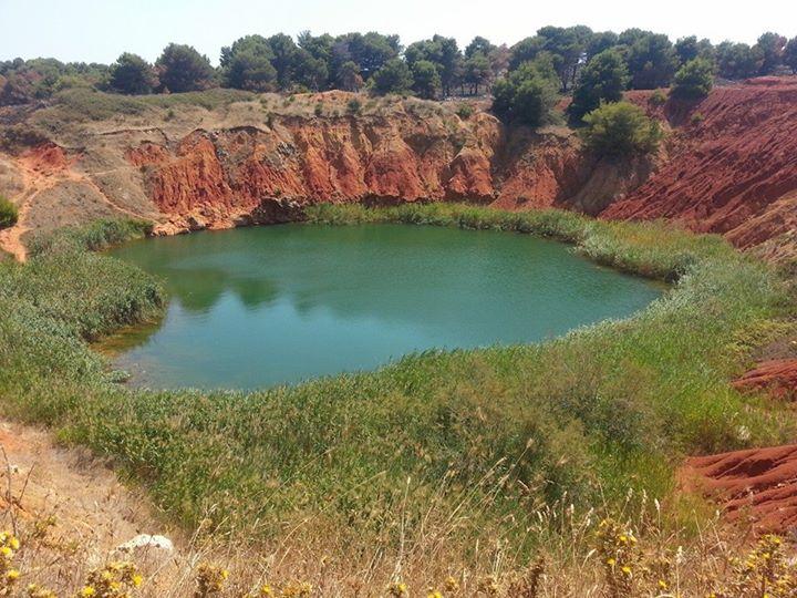 Cava di Bauxite di Otranto a pochi km. da Giurdignano (Lecce)