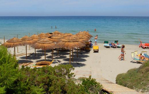 Particolare della spiaggia Kalia club Village Otranto, Lecce