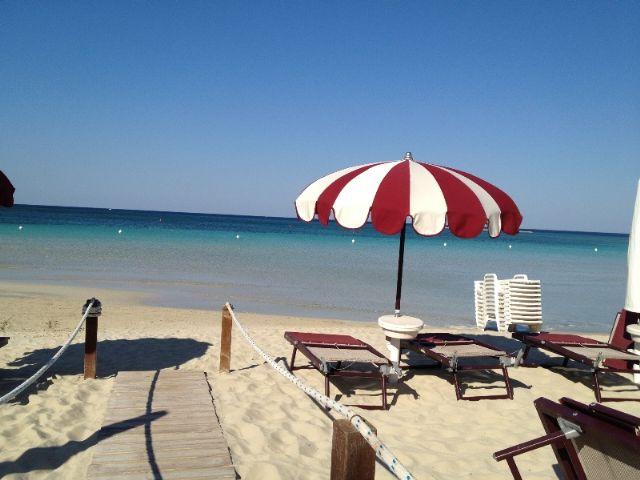 Spiaggia di sabbia fine Hotel Conchiglia Azzurra Porto Cesareo, Lecce