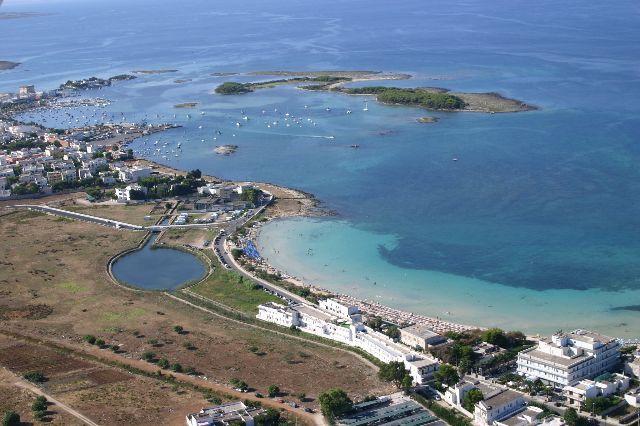 Vista sul Bacino di Porto Cesareo, Hotel Conchiglia Azzurra