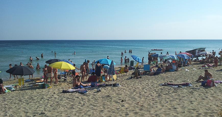 Scorcio della spiaggia di Lido Marini