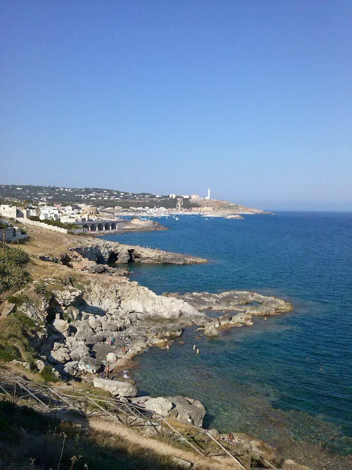 vista della costa leucana nel Sud Italia