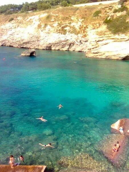 Mare di Porto Miggiano vicino alla villetta in affitto a Santa Cesarea Terme