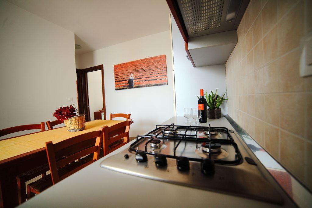Cucina appartamento Residence Rivamare Resort