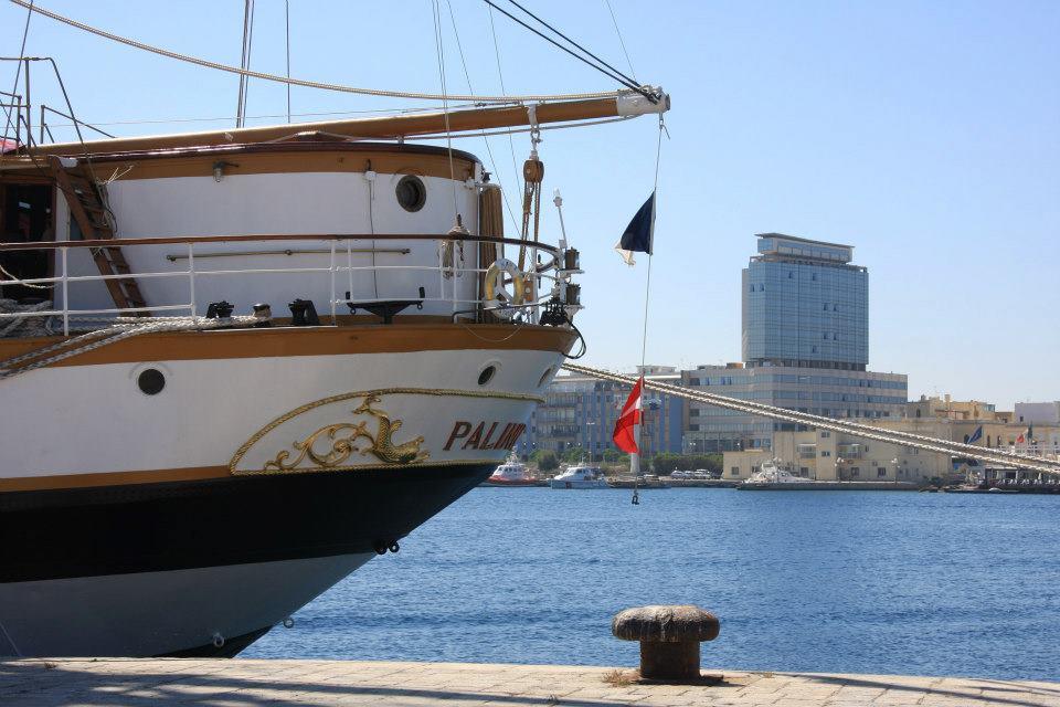 vista del Residence Bellavista dal Porto di Gallipoli