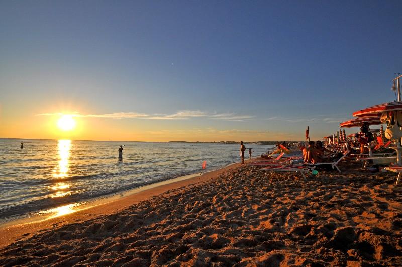 Tramonto sulla Spiaggia a Gallipoli, Lecce
