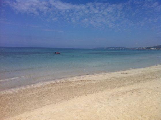 lo splendido mare e la spiaggia della località di Rivabella a Gallipoli (Salento)