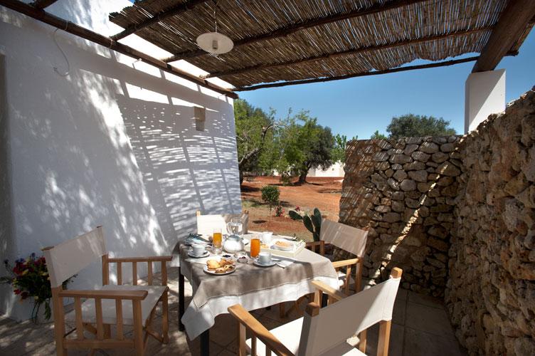 Patio attrezzato Resort I Mulicchi Specchia, Lecce