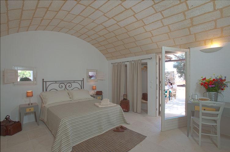 Camera con volta a botte Resort I Mulicchi, Specchia, Lecce