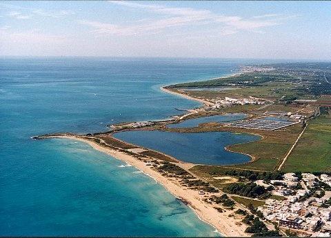 Vista panoramica della spiaggia di Lido Marini in provincia di Lecce