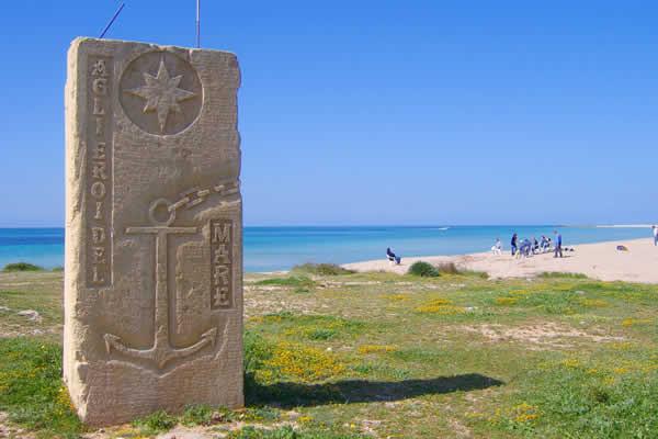 Monumento agli eroi del mare a Lido Marini, Lecce
