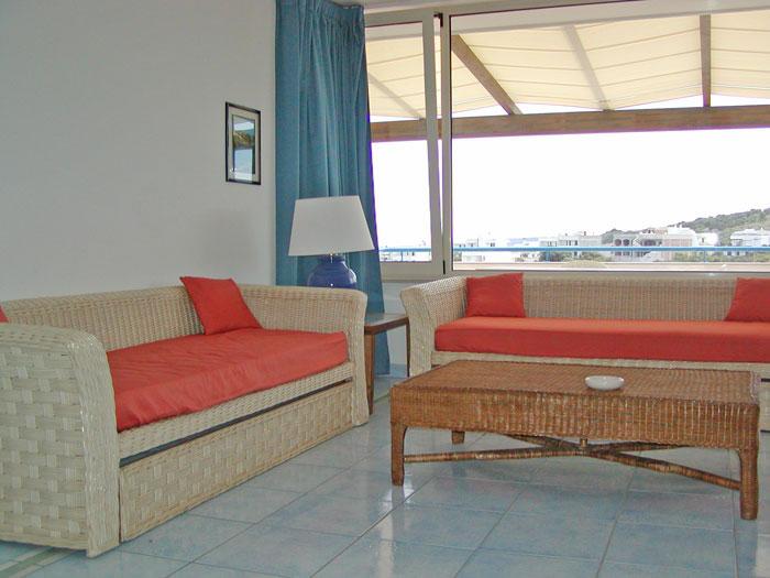 soggiorno della camera per soggiorni turistici a Castro marina (Lecce)