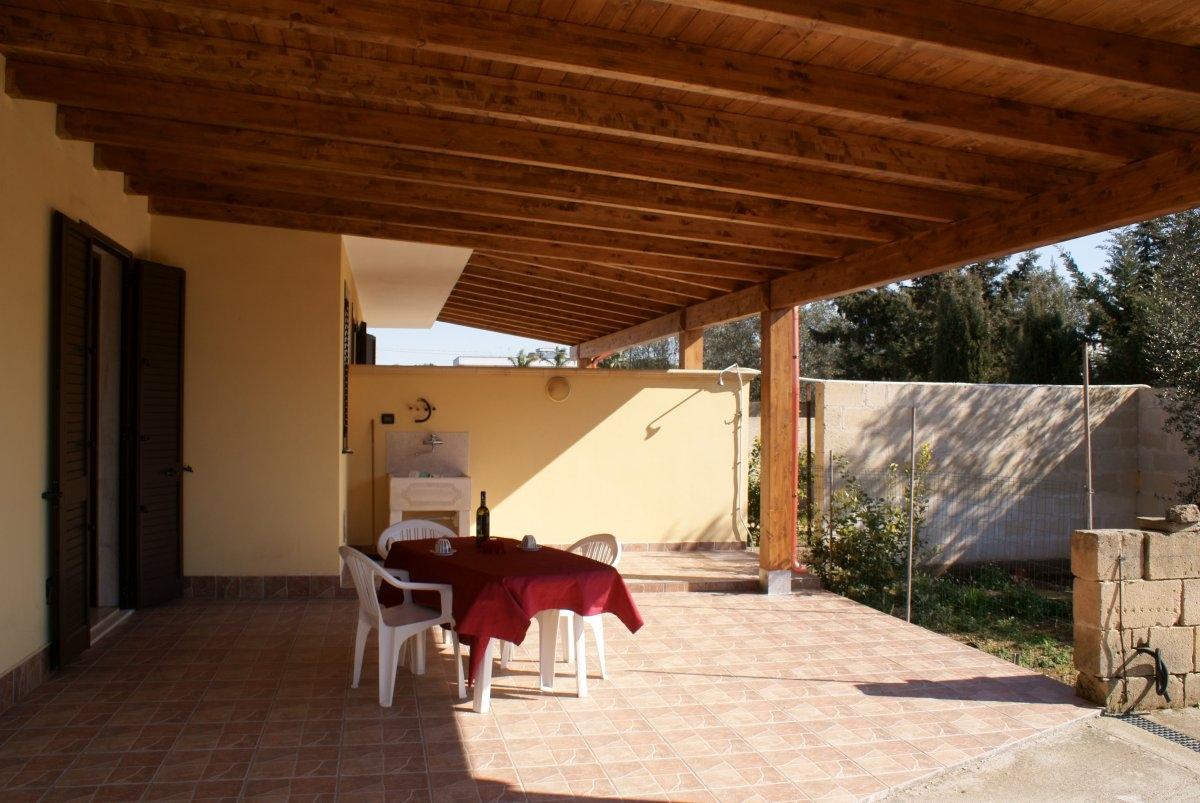 Ingresso veranda Villette Le Mimose Porto Cesareo