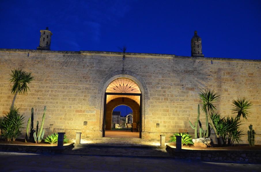 Esterno notturno Masseria Chicco Rizzo  Sternatia, Lecce