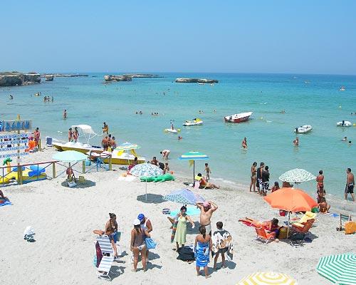 La spiaggia e il mare di San Foca