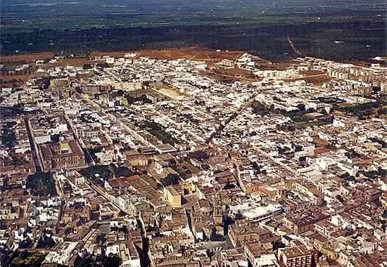 Vista aerea di Squinzano