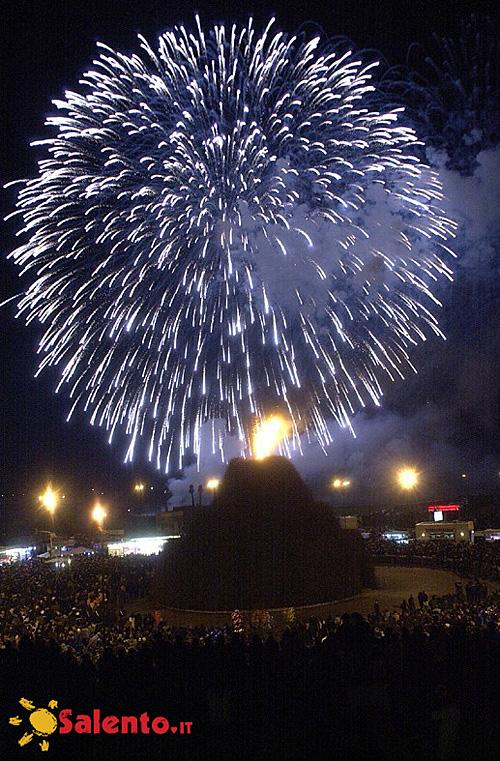 I Fuochi d'artificio e la focara di Novoli, Lecce