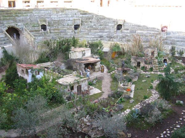 Presepe nell'anfiteatro di Lecce