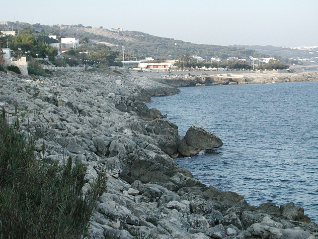 Costa rocciosa a Marina di Andrano, Tricase, Lecce