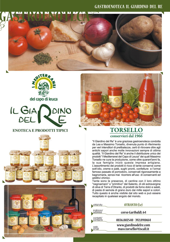 Giardino del re negozio prodotti tipici otranto lecce su for Roma prodotti tipici