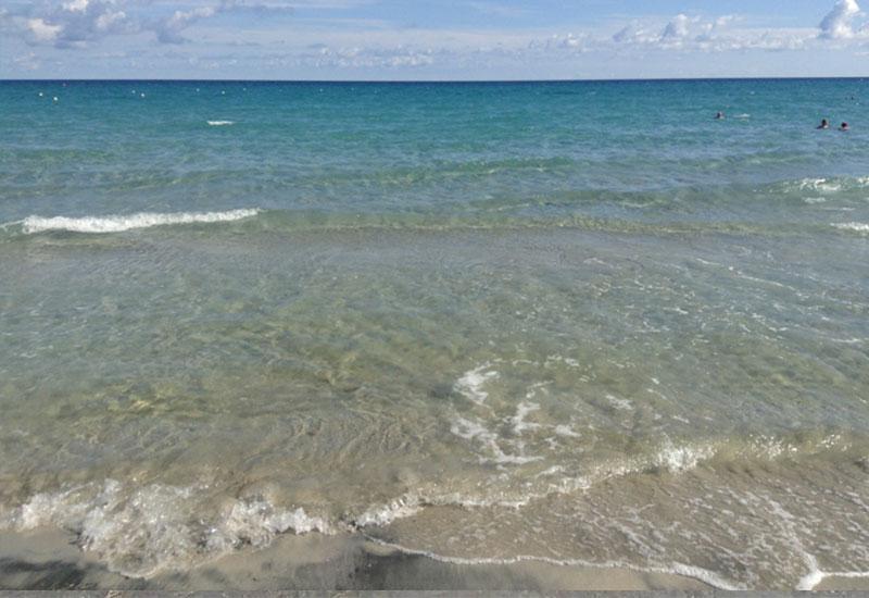 mare di San Foca dal lido balneare Enso beach